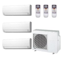 AOU36RLXFZ1 ASU9RLF1 (TWO) ASU12RLF1 Fujitsu Heat Pump Wall Mounted Ductless Tri Zone System