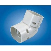 "Mitsubishi NZ-60 Line Hide Lineset Cover System Universal 45-90 Degree Adjustable Vertical Elbow - 2-9/16"" x 2-9/16"""