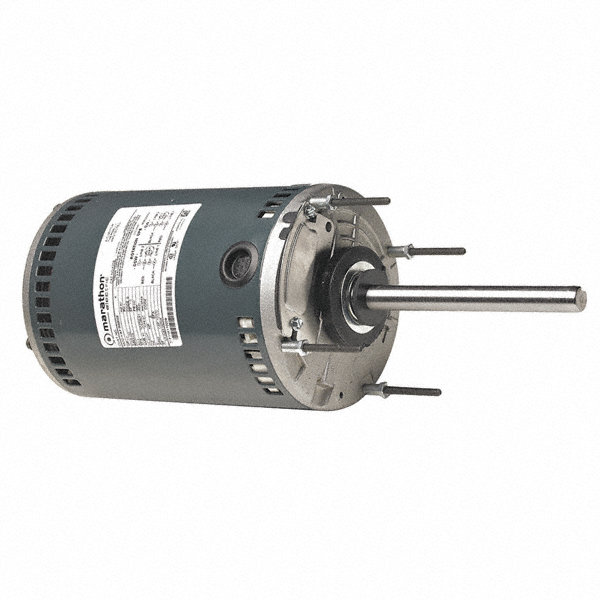MARATHON MOTORS 1/MARATHON MOTORS 2 HP Condenser Fan Motor,Permanent Split Capacitor,825 Nameplate RPM,208-230 Voltage,Frame 56