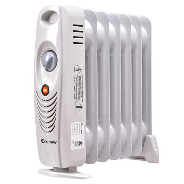 Costway 700W Portable Mini Electric Oil Filled Radiator Heater Safe Room ComforTemp