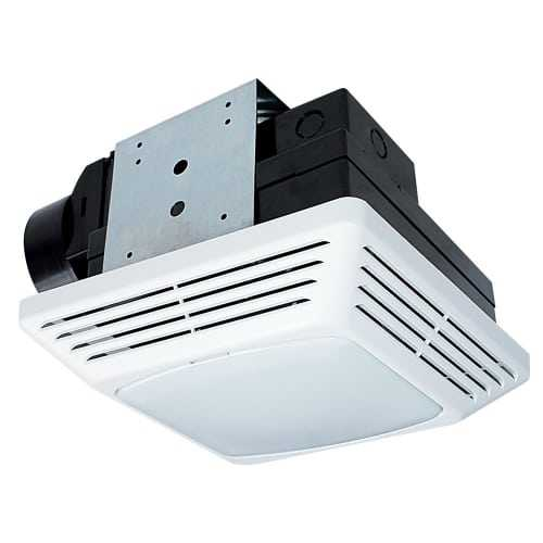 Air King BFQF50 50 CFM 0.5 Sone Energy Star Rated Exhaust Fan with Snap-In Installation and Fluorescent Light from the High