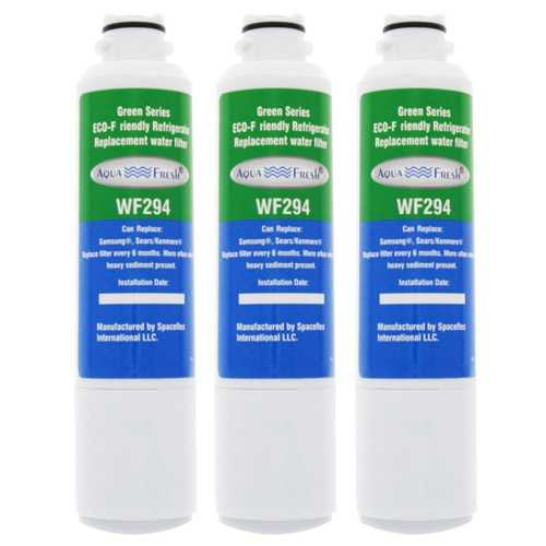 Aqua Fresh Replacement Water Filter Cartridge for Samsung RS265TDBP / XAC Refrigerator Model (3 Pack)
