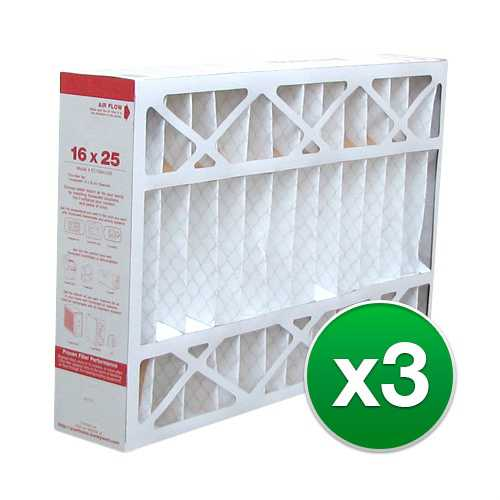 Replacement Pleated Air Filter for for Honeywell 16x25x4 MERV 11 (3-Pack)