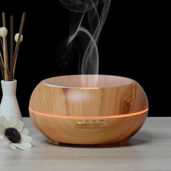 iPM 200mL Color Changing Aroma Diffuser Wood Humidifier - 200ML Humidifier