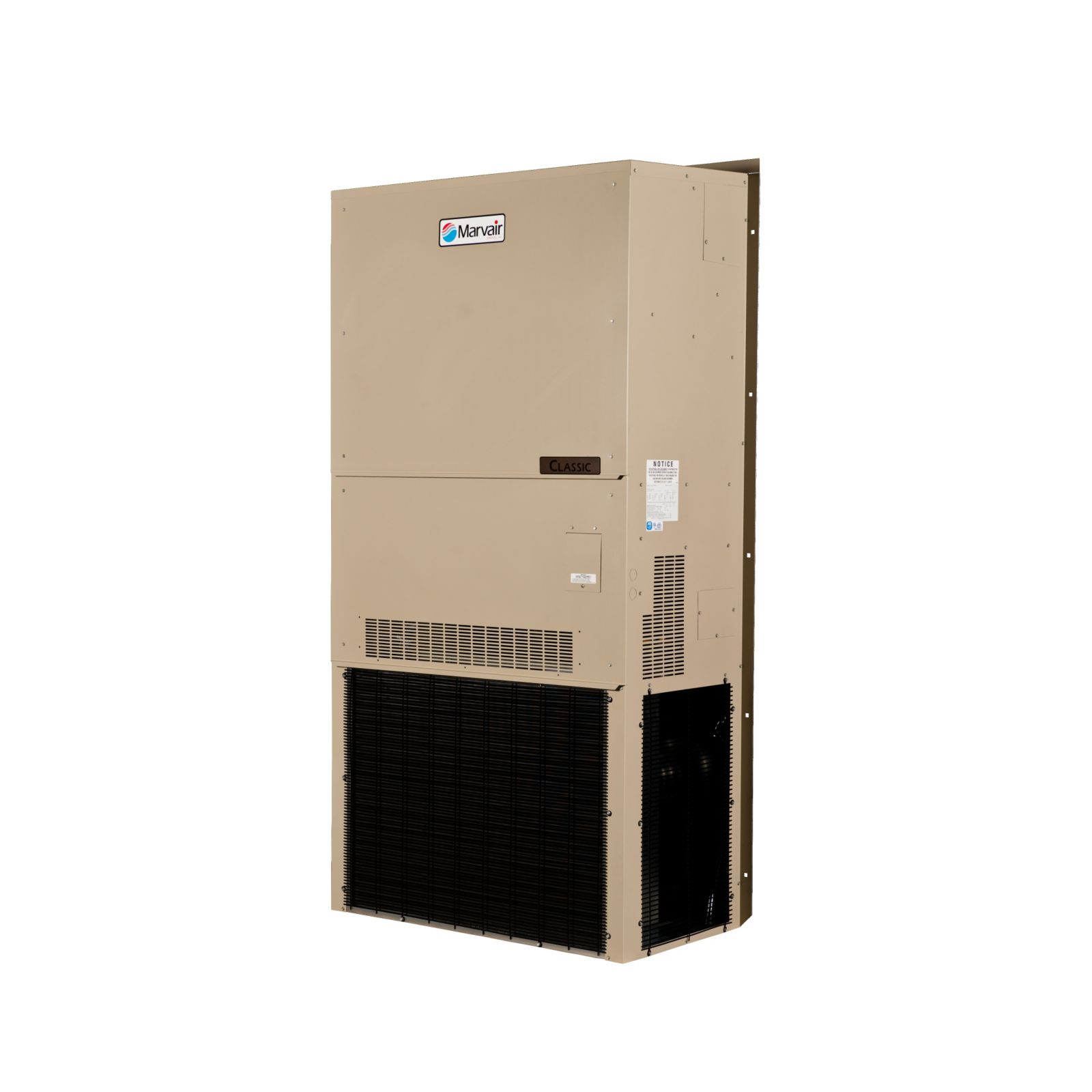 Marvair AVPA36HPA100NU-A2-100 - 3 Ton Classic, Wall Mount Heat Pump, 10 kW Electric Heat, Manual Damper, Scroll Compressor