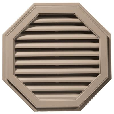 32 in. Octagon Gable Vent in Wicker