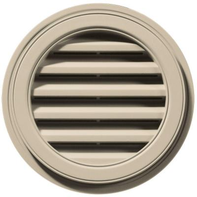 18 in. Round Gable Vent in Sandalwood