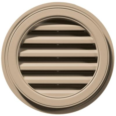 18 in. Round Gable Vent in Tan