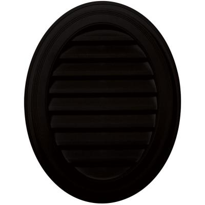 27 in. Oval Gable Vent in Black