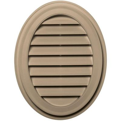 27 in. Oval Gable Vent in Tan