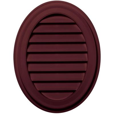 27 in. Oval Gable Vent in Wineberry