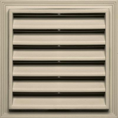 12 in. x 12 in. Square Gable Vent in Almond