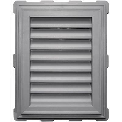 18 in. x 24 in. Classic Brickmould Gable Vent in Gray