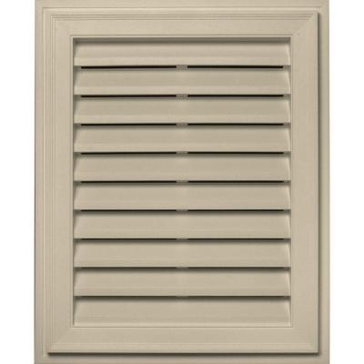 20 in. x 30 in. Brickmould Gable Vent in Almond