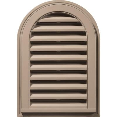 14 in. x 22 in. Round Top Gable Vent in Wicker