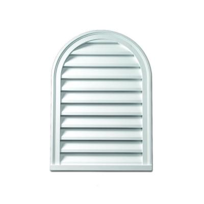 18 in. x 54 in. x 2 in. Polyurethane Functional Cathedral Louver Gable Vent