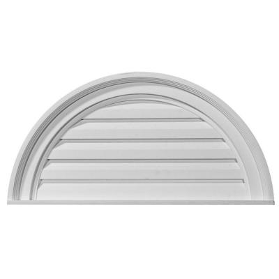 2 in. x 28 in. x 14 in. Decorative Half Round Gable Louver Vent