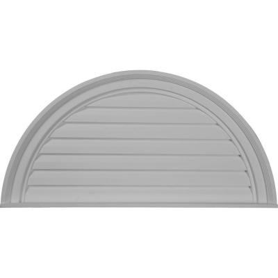 2 in. x 32 in. x 16 in. Decorative Half Round Gable Louver Vent