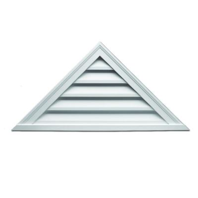 60 in. x 22-1/2 in. x 2 in. Polyurethane Decorative Triangle Louver