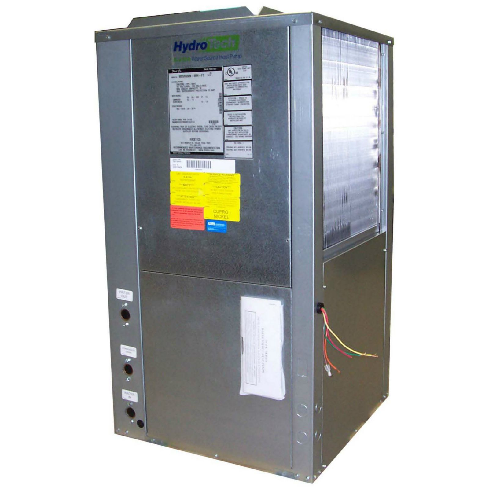 First Co. WSVC048 C E LH FT - Vertical Water Source Heat Pump, 4 Ton, Copper, Left Hand, Top Discharge, 208-230V/3 Phase